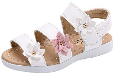 8901e571798ee YOGLY Sandales Fille Enfant et Nu-Pieds Bout Ouvert Chaussure Princesse  d été pour