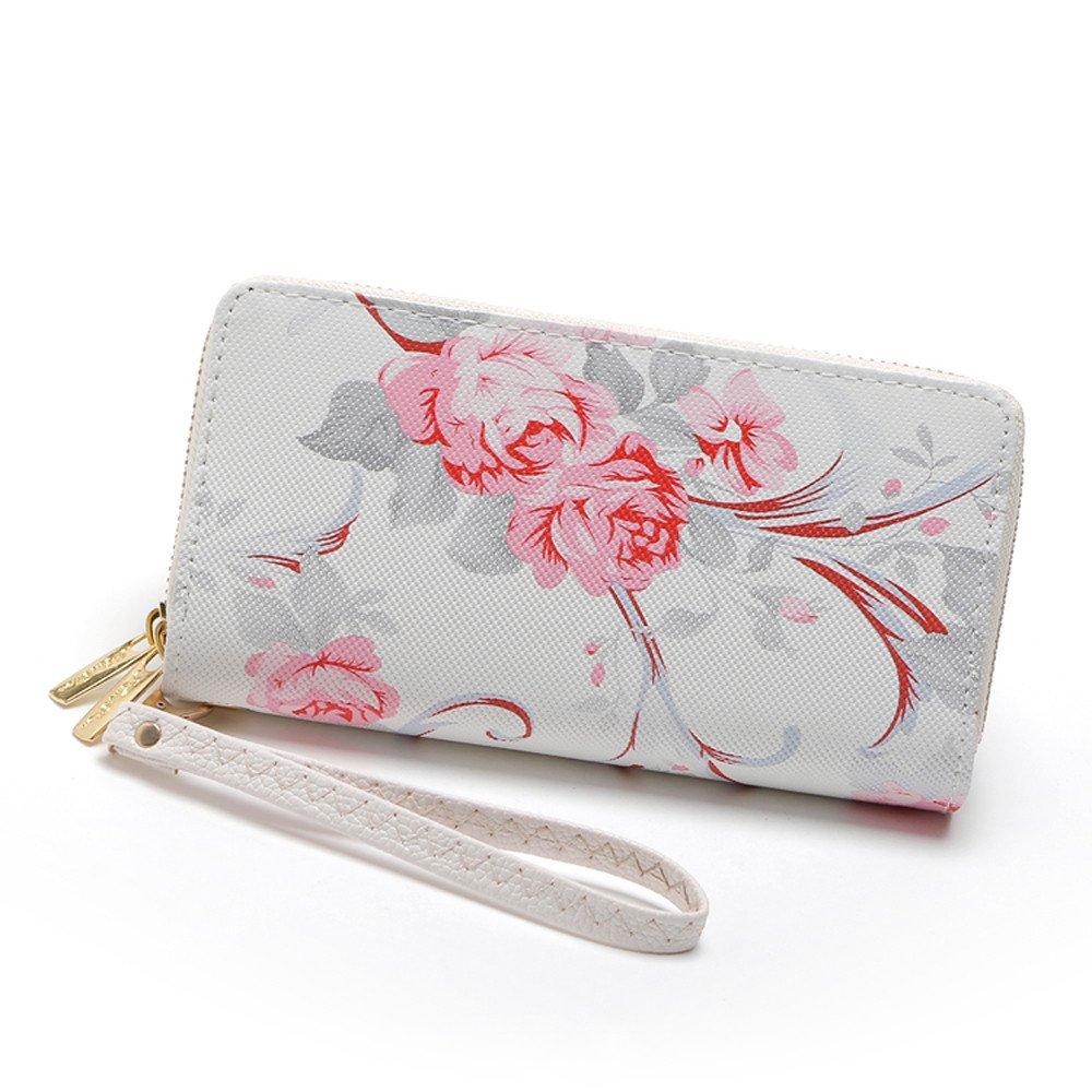 A Flower Elegant Feitengtd Happy Handbag Fashion Womens Wallet Coin Bag Purse Stone Road Phone Bag