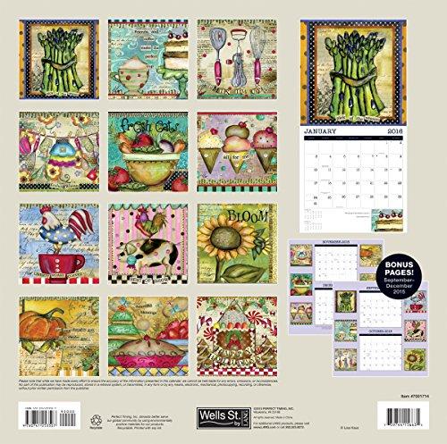 Wells Street By Lang Fun Kitchen 2016 Wall Calendar By