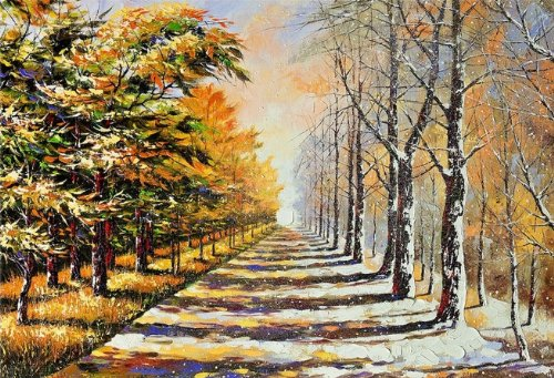 Startonight Wall Art Canvas Autumn and Winter, Landscape USA Design for Home Decor