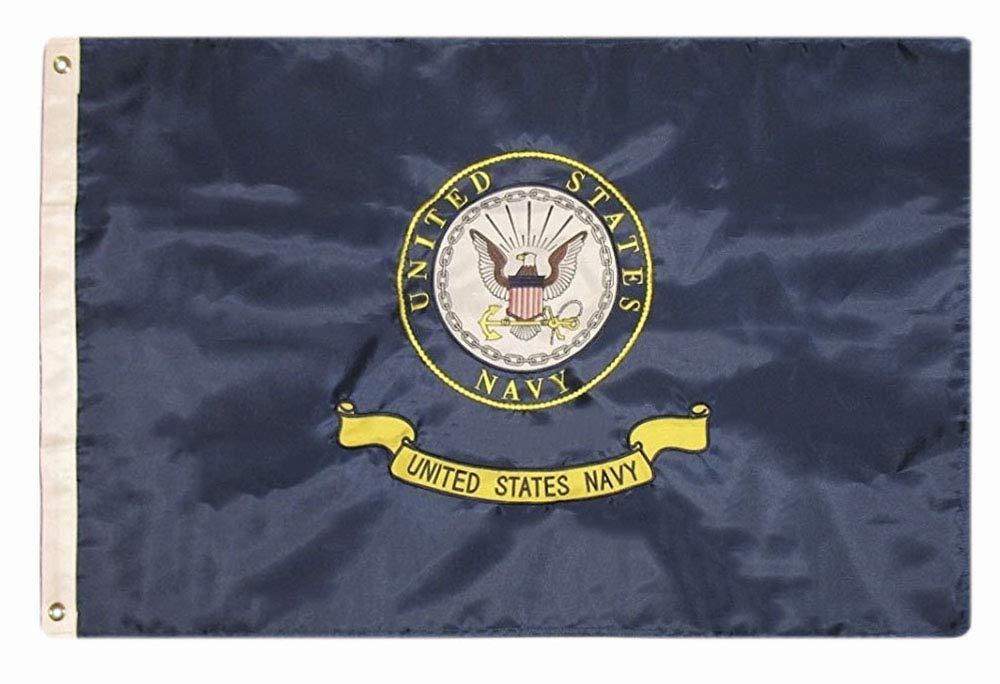 d30092574dc Amazon.com   usep 2x3 Embroidered Double Sided U.S. Navy Emblem Seal Crest  Solarmax Nylon Flag   Garden   Outdoor