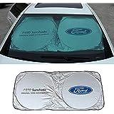 SHIYISHOU 150X70cm Car Window Sun Shade Car Windshield Visor Cover Block Front Window Sunshade UV Protect Car Window Film (ford)