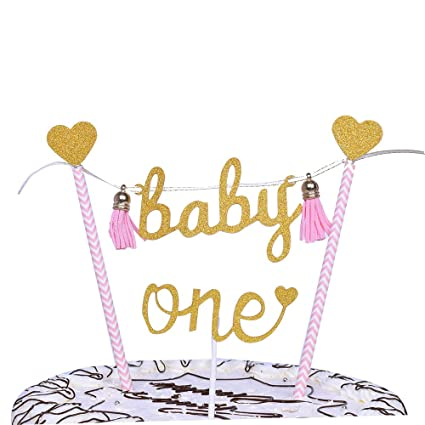 YUINYO Happy Birthday Cake Topper Party Decoration BannerGold Love Star Buntingquot