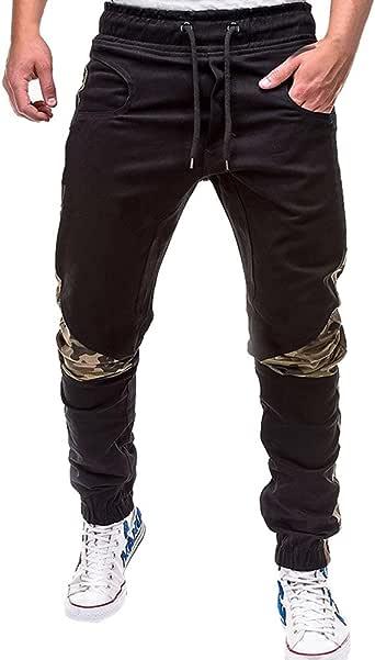yoyorule Casual Pants Mens Sport Pure Color Bandage Casual Loose Sweatpants Drawstring Shorts Pant