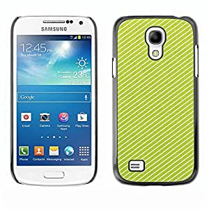 Be Good Phone Accessory // Dura Cáscara cubierta Protectora Caso Carcasa Funda de Protección para Samsung Galaxy S4 Mini i9190 MINI VERSION! // Lines Vibrant White Pattern Summer
