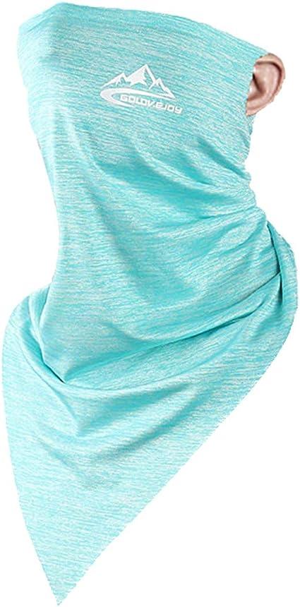Negro /& Blanco /& Gris keland Seda de Hielo Earloop Sin Costuras Mascarilla Protector Solar Respirable Pa/ñuel Bandana Polaina de Cuello Bufanda