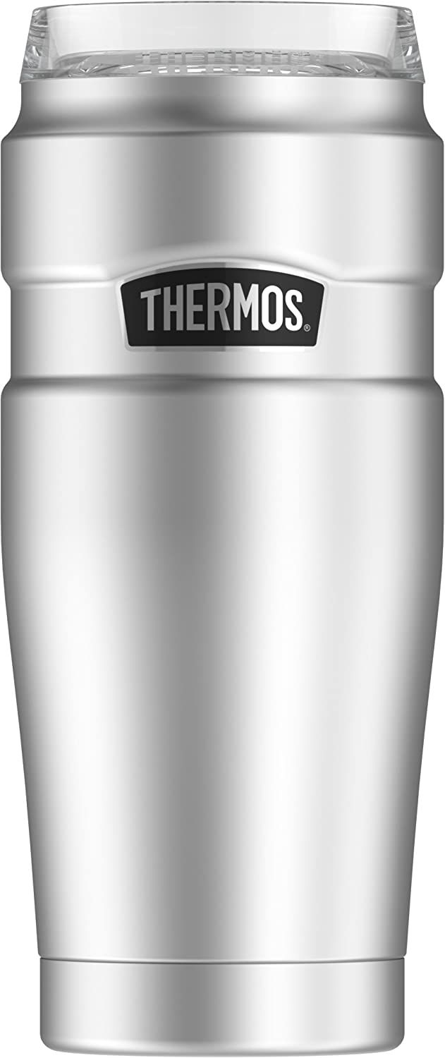 Thermos Stainless King 20 oz Travel Tumbler with 360 Drink Lid, Stainless Steel
