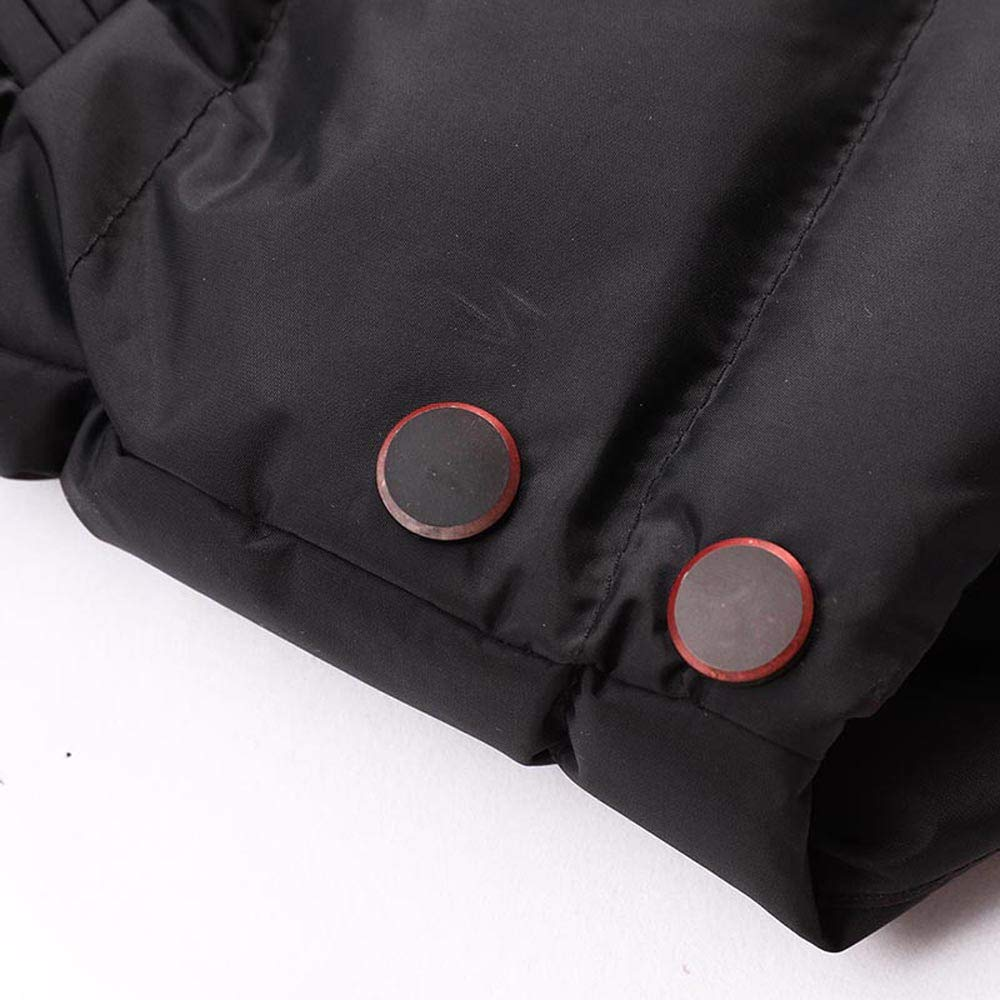Big and Tall Mens Winter Coat.Mens Fashion Winter Zipper Pure Color Thickened Hoodie Cotton Outwear Coat
