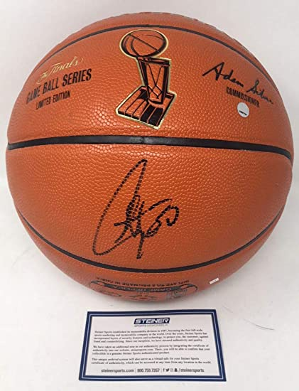 378de1a3b Stephen Curry Golden State Warriors Signed Autograph NBA Limited Edition NBA  Finals Game Basketball Steiner Sports