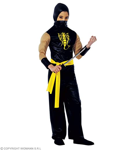Amazon.com: Childrens Power Ninja 158cm Costume Large 11-13 ...