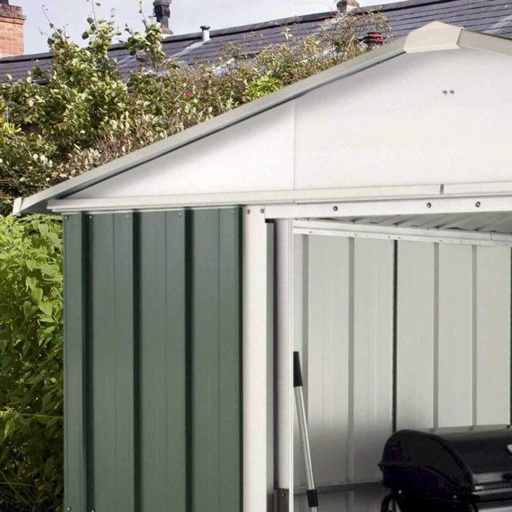 Yardmaster Apex Metal caseta de jardín, 10 x 13 marco de acero con soporte de suelo: Amazon.es: Jardín