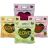 OLOVES Natural Whole Pitted Olives | 24 Pack Variety | Basil & Garlic, Chili & Oregano, Lemon & Rosemary | Vegan, Kosher, Glu