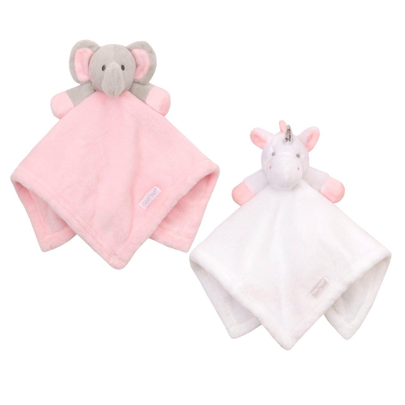 Babytown Baby Boys & Girls Animal Snuggle Comforter Blanket Pink Elephant White Unicorn