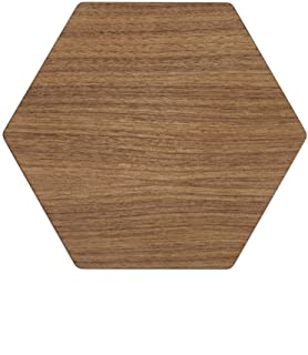 """product image for Epicurean Hexagon Display/Serving Board, 13 by 11.25-Inches, Walnut/Slate, 13"""" x 11.25"""""""