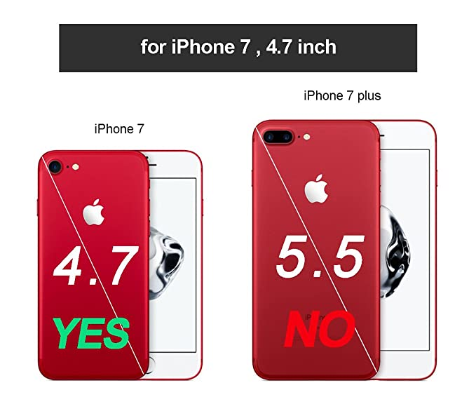 Snewill Funda iPhone 8,Funda iPhone 7, Anti-Gravity Selfie Case for iPhone 7 (4.7 Inch), Hands Free Nano Suction Stick to Glass, Tile, Car GPS, ...