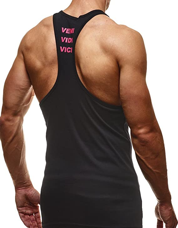 Bekleidung Bodybuilding Training LN6205N Anthrazit-Gr/ün Medium Leif Nelson Gym Herren Stringer T-Shirt f/ür Sport Fitness ohne /Ärmel M/änner Bodybuilder Trainingsshirt Top /ärmellos Sportshirt