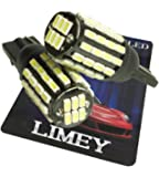 (ライミー) LIMEY 新型 爆光 T10 T16 LED ポジション ホワイト 白 54連 このサイズで驚きの明るさ 3014SMD 6500K 無極性 バルブ ナンバー ルームランプ 12-24V対応 2個入 【取扱説明書&保証書付き】 L-T16W3014C54RB