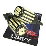 (ライミー)LIMEY 新型 爆光 T10 T16 LED ポジション ホワイト 白 54連 このサイズで驚きの明るさ 3014SMD 6500K 無極性 バルブ ナンバー ルームランプ 12-24V対応 2個入 【取扱説明書&保証書付き】 L-T16W3014C54RB