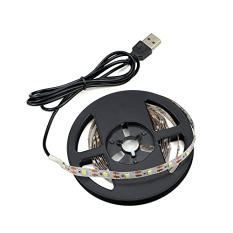 huge discount fdf46 b35c9 USB Power Led Strip Lights,Waterproof 5M 60leds/m SMD 3528 5V Warm White  Desktop PC Screen Backlight,TV Backlight,Ribbon Light,Rope Lighting,Kitchen  ...