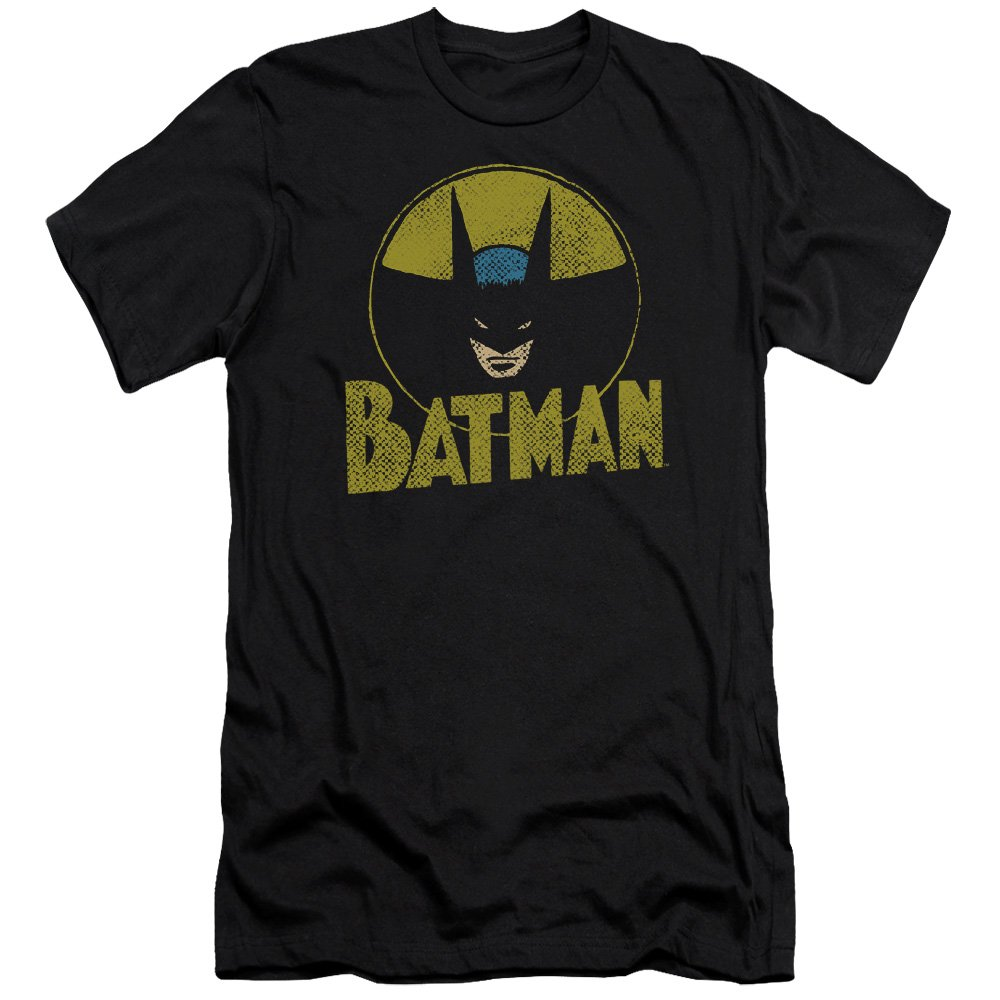 Dc Circle Bat Premium Adult Slim Fit T-Shirt