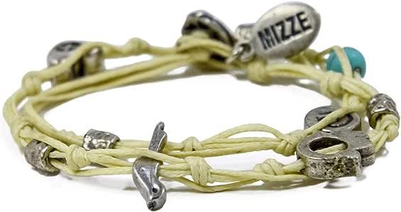 Hamsa Multi Charms doble regalo pulsera hecha a mano en