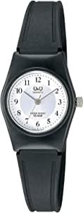 Q&Q Women's White Dial Resin Band Watch - VP35J012Y - Black
