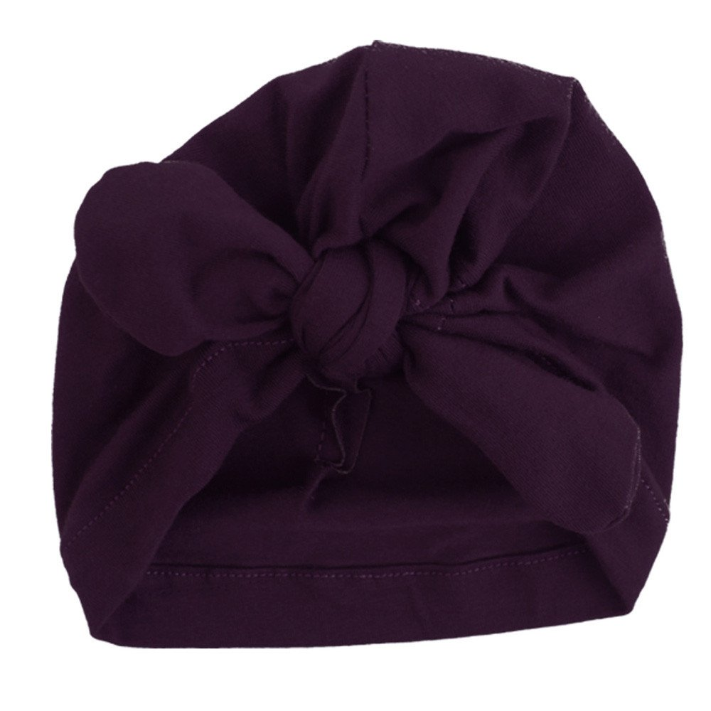 Kimanli Toddler Hat,Newborn Boys Girls Lovely Bowknot Hats Winter Warm Hat Baby Caps (Purple)
