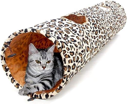 Túneles Para Gatos Artículos Para Gatos Tubos Y Túneles Para Animales Pequeños Proveedor De Mascotas Plegable Largo Divertido Divertido Gatito Juguetes Leopardo Gato Túnel Gato Conejo Juguet: Amazon.es: Productos para mascotas