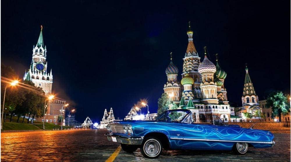 Rompecabezas Rompecabezas De 1000 Piezas Coches Clásicos Coches Antiguos Coches Antiguos Moscú para Niños Adultos Mayores De 14 Años