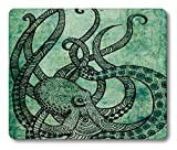 Octopus Rectangle Mouse Pad by Smooffly,Gorgeous Cool Octopus Color Printed Mousepad Non Slip Rubber Mouse pad Gaming Mouse Pad
