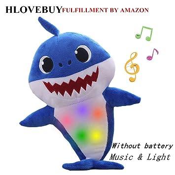 Baby Shark Plush Singing Toys Music Doll English Kids Song Gift Toy Stuffed US