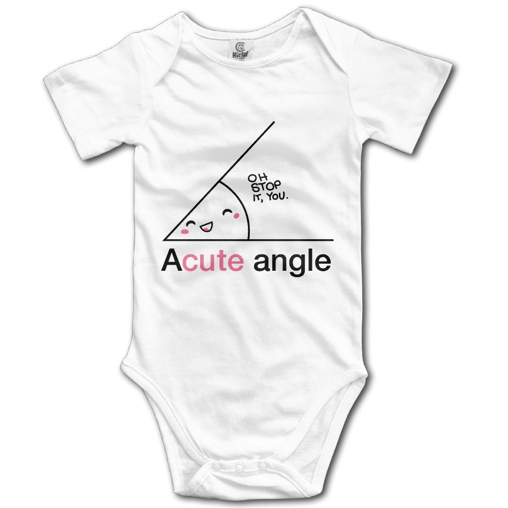 NEWBABY Acute Angle Baby Boys Cotton Short Sleeves Triangle Jumpsuit for 0-24m Baby