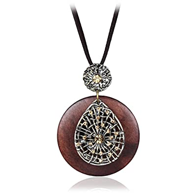 Amazon vintage woman necklaces jewelry statement necklaces amazon vintage woman necklaces jewelry statement necklaces pendants wooden pendant collares mujer choker necklace women long necklace b jewelry aloadofball Image collections