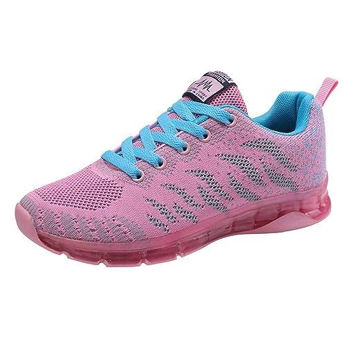Cinnamou Zapatos para Corror Mujer Zapatillas de Deportiva Slip on Huecos Sneakers para Caminar Walking Calzado Malla Transpirables Loafer Ligeros Mocasines ...