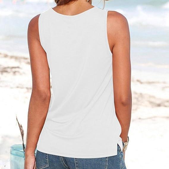 DOGZI Camisetas Chaleco De Tirantes De Verano para Mujer Blusa Camisa Sin Mangas Blusa Casual Camisetas Sin Mangas: Amazon.es: Ropa y accesorios