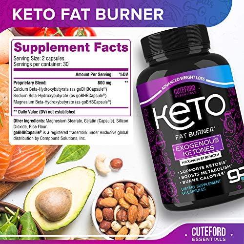 BHB Keto Pills - Keto BHB Capsules for Weight Loss - Keto Fit Pills Made in USA - BHB Exogenous Ketones Supplement for Ketogenic Diet - Keto Advanced Weight Loss 3000 mg - Keto Fast Diet Pills 2