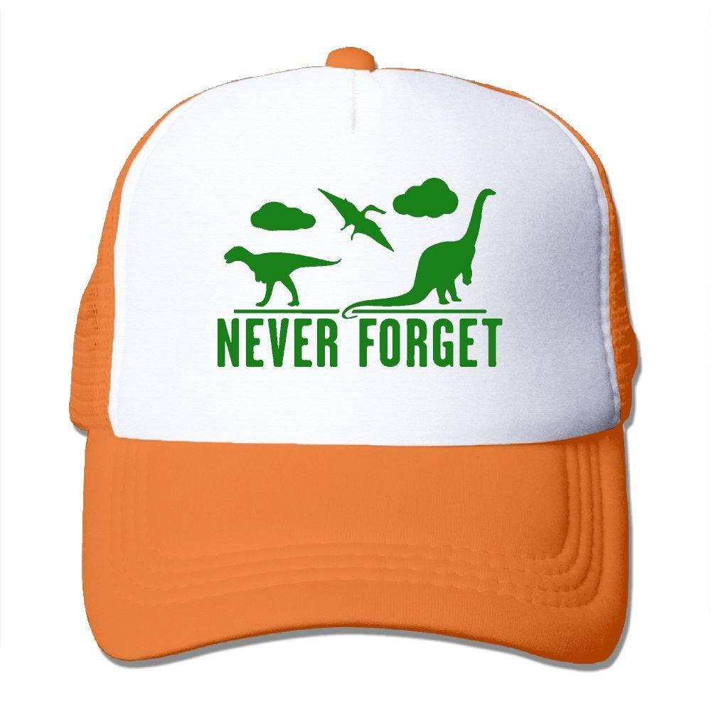 WestWell Never Forget Dinosaurs Mesh Hat Unisex Trucker Caps Sun Mesh Back Cap Hat Comfortable