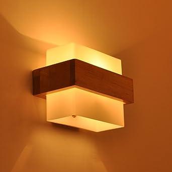 Perfekt MOEI LED Wandleuchte Innen Up Down Modern Wandlampe Aus Holz Für Wohnzimmer  Schlafzimmer Treppenhaus Flur Wandbeleuchtung