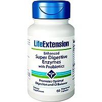 Life Extension - gli enzimi digestivi Super migliorati con probiotici - 60 capsule vegetariane