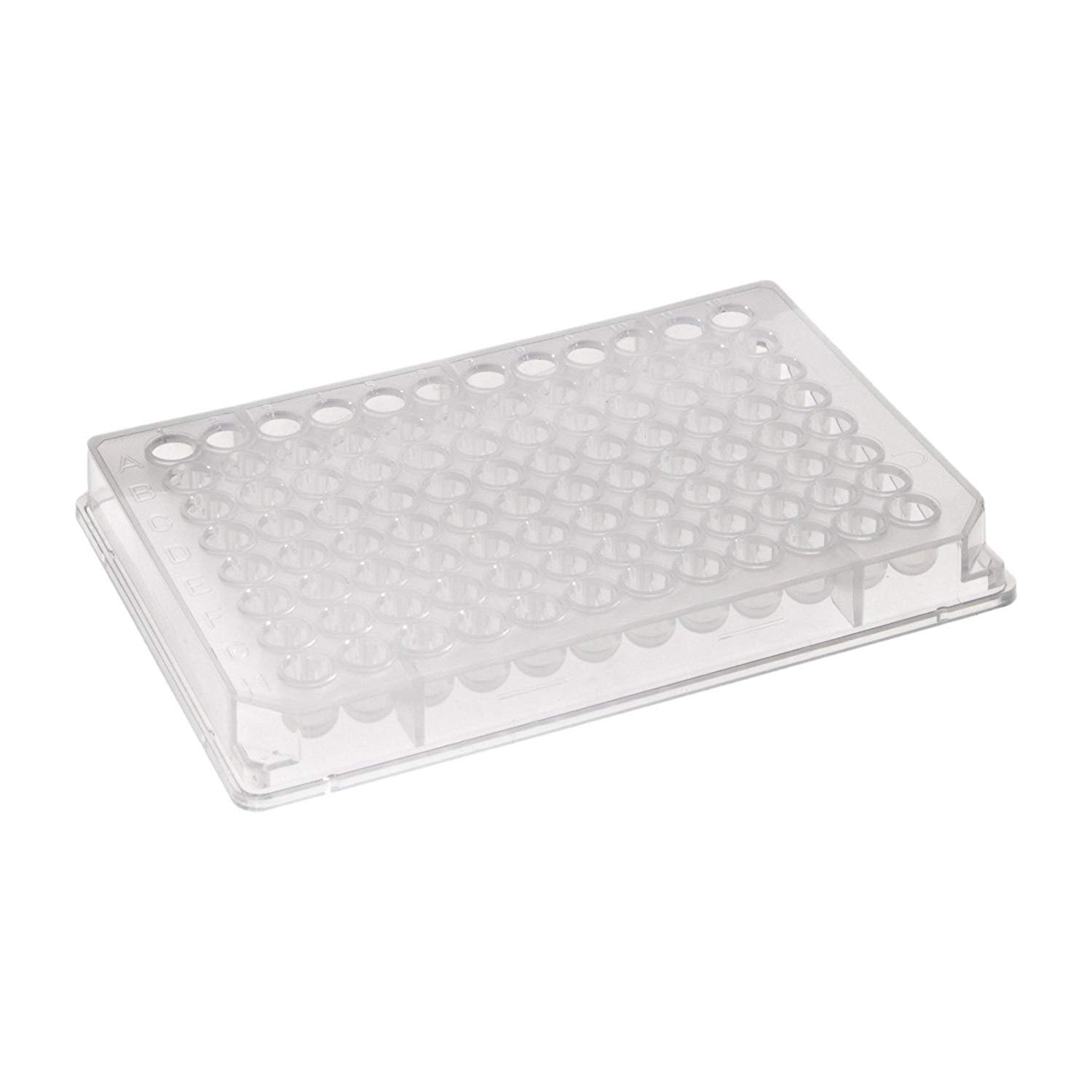 Iwaki 3590 Polystyrene Flat Bottom 96 Well High Bind EIA/RIA Clear Microplate, Without Lid (Case of 99)