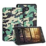 7 inc tablet cover - Samsung Galaxy Tab A 7.0 Case - Leafbook Samsung Tablet case Ultra PU Leather Stand Cover Case for Samsung Galaxy Tab A 7.0 Inch Tablet 2016 Release / SM-T280 / SM-T285,Camo Green