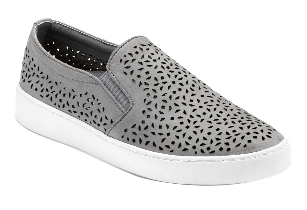 Vionic Womens Splendid Midi Perf Slip-On Loafer Grey Size 11