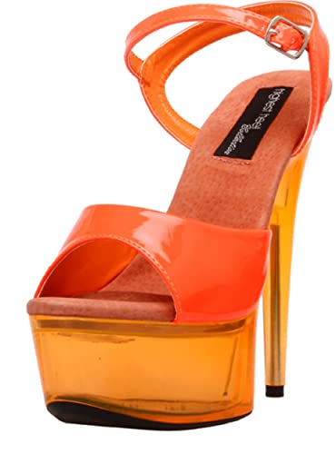 33c8c1ef57f The Highest Heel Women s Glow-101 6 Inch Platform Sandal