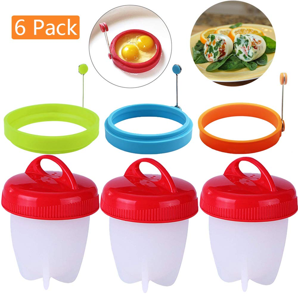Egg Ring Non Stick Silicone Egg Rings Pancake Mold Round Cooking Mould Random Color 1pcs Willsm