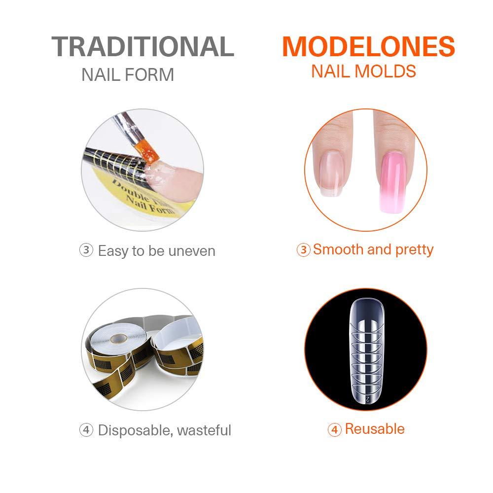 Modelones 120pcs Coffin Nails Clear Ballerina Nail Tips Full Cover Dual Nail Form : Beauty