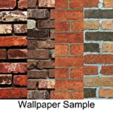 HaokHome S61002 620501 62033 61005 Faux Red Brick Wallpaper Sample,8-Inch X 10-Inch