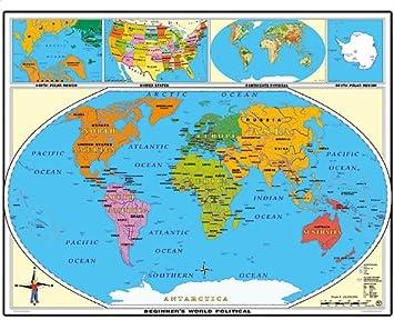weltkarte englisch Amazon.de: XXL 1, 80 Meter   Weltkarte politisch beginners  weltkarte englisch