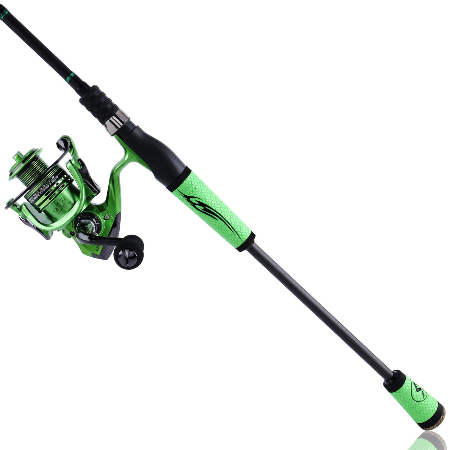 Sougayilang Speed Bass Fishing Rods, Porable Light Weight High Carbon 4 Pc Blanks for Travel Freshwater Fishing-Spinning Casting