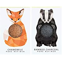 The Konjac Sponge Company Mini Pore Refiner Gift Set - Badger and Fox (Pack of 2)