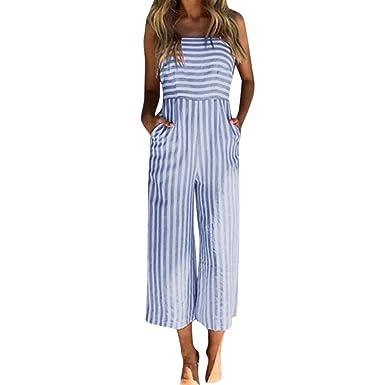 Damen Locker Latzhose Sommerhose Freizeithose Baggy Overall Jumpsuit Playsuit DE